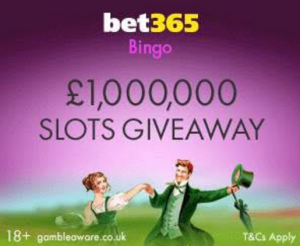 Bet356 Bingo £1M Slot Giveaway Is Here
